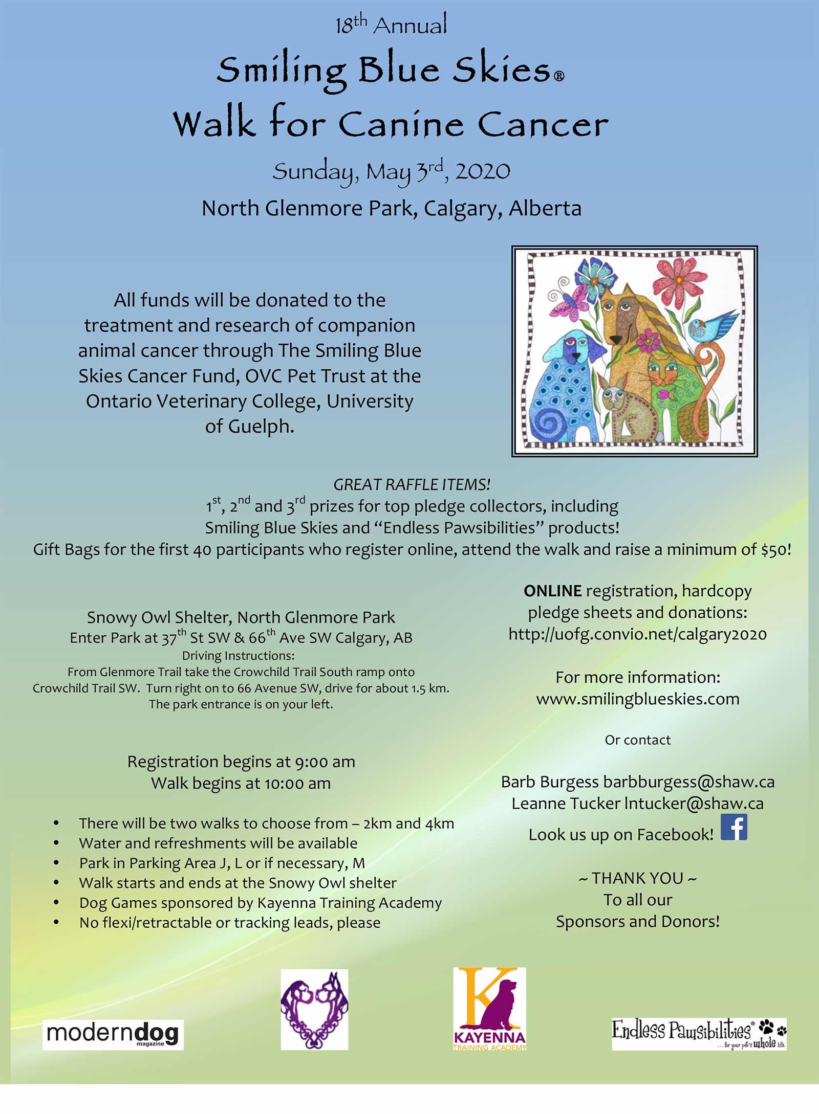 Walk for Canine Cancer - Calgary 03/05/2020