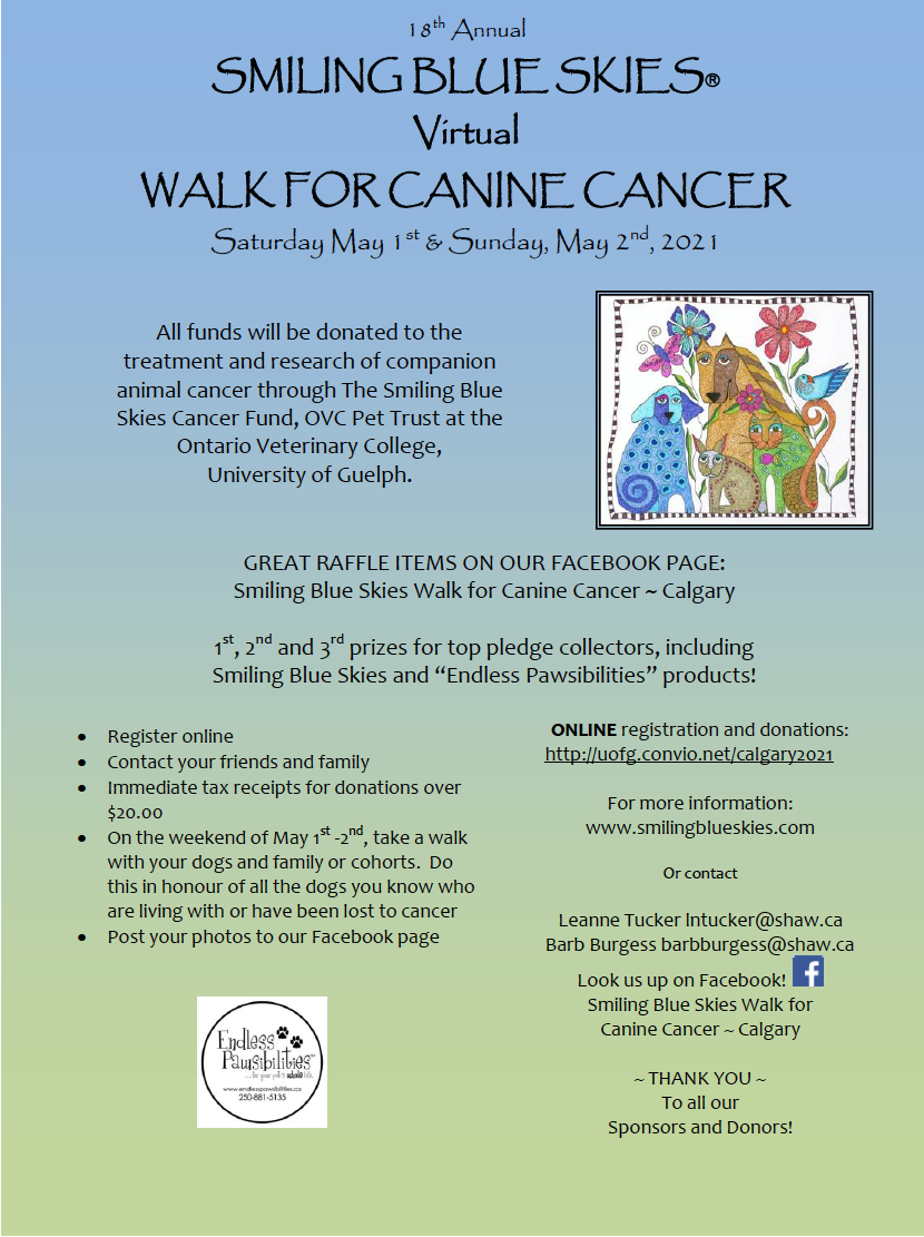 Virtual Walk for Canine Cancer 2021