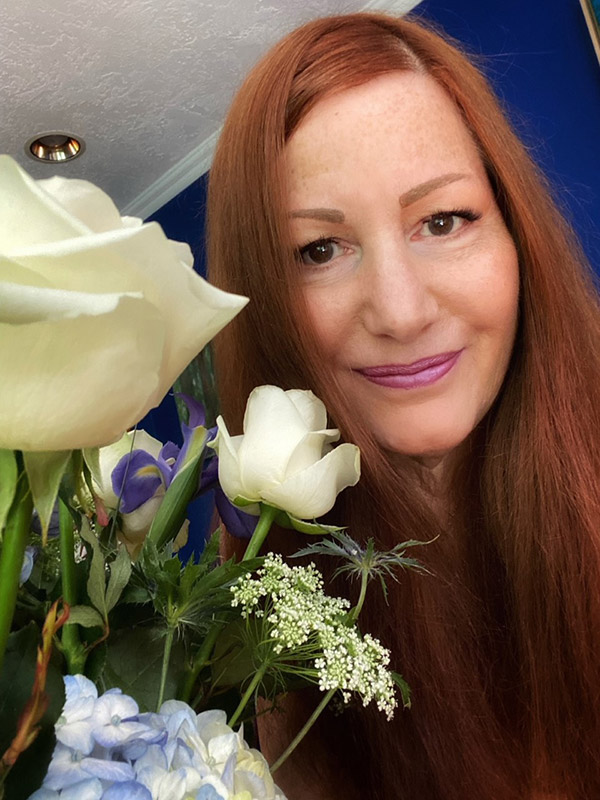 Suzi with Flowers